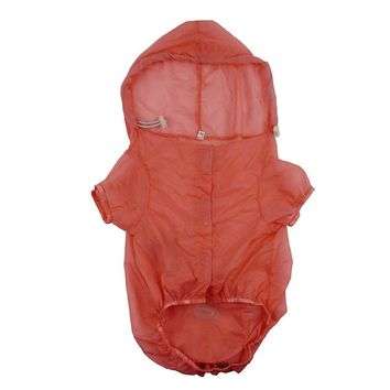 Dog Raincoat, UV Resistant Hooded Jacket