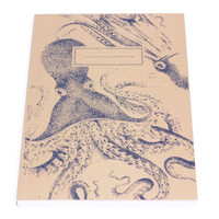 Vintage-Style Octopus Graphic Notebook