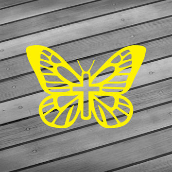 Butterfly cross decal Butterfly decal Religious decal Jesus decal Jesus sticker Religious wall art Butterfly car decal Butterfly sticker