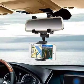 2017 360 Degree Car-styling Rearview Car Phone Holder Mirror Mount Holder Stand Cradle