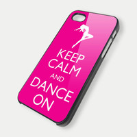 Keep Calm and Dance On pink iPhone 5 Case iPhone by CustomGiftdea