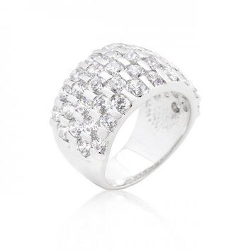 Channel Set Princess Cut Ring (size: 08) (pack of 1 ea)