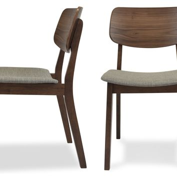 Baldwin Mid-Century Modern Dining Chair in Light Grey (Set of 2)