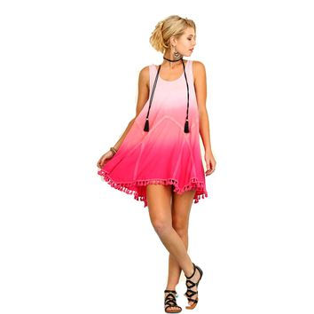 Sleeveless Ombre Dress , Pink
