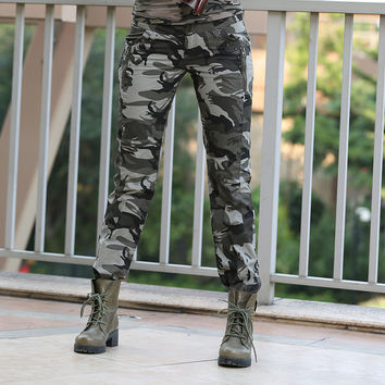 New Design Summer camouflage pants women fashion Casual sports outdoor Loose Sport  Cargo pants women Military GK-9522B Z15