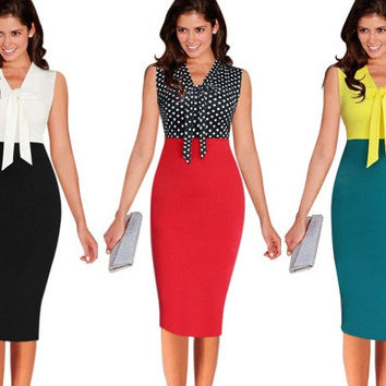 Womens Stylish Pencil Office Slim Skirt Dress