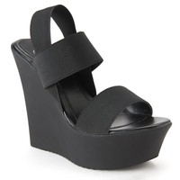 Candie's Women's Banded Platform Wedge Sandals