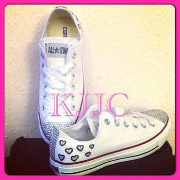 converse and wedding converse vans nike pumps silver swarovski diamonte diaman