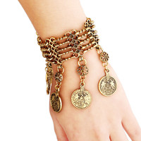 Summer Style Bohemian Tassel Coin Bracelet Boho Gypsy Ethnic Luxury Bracelet Bangle