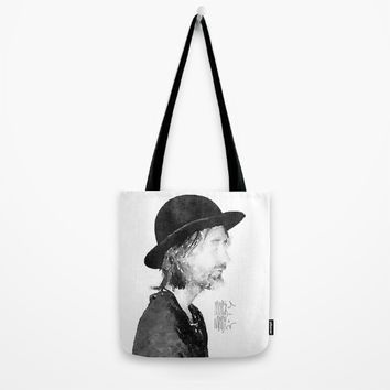Thom Yorke Watercolor portrait by MrNobody Tote Bag by mrnobody