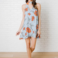 Kady Floral Mock Neck Dress