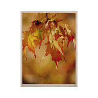 "Angie Turner ""Autumn Leaves"" Vibrant Orange KESS Naturals Canvas (Frame not Included)"