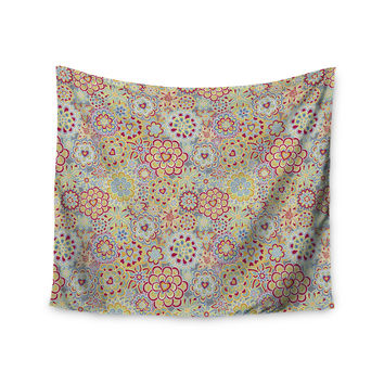 "Julia Grifol ""My Happy Flowers in Red"" Wall Tapestry"