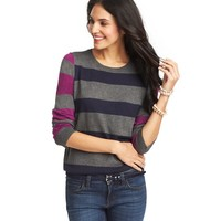 Mixed Stripe 3/4 Sleeve Sweater