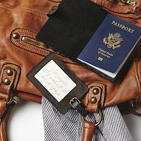 Understated Leather for Free People Womens Branded Passport / Tag Set