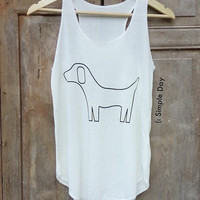 The dog Tank Top Hipster tank top Tank top women Fitness top Summer Cloth Gift Summer fashion tshirt Vintage tank tops for woman Short Pants