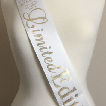 60th Birthday Sash, Birthday Party Sash, Birthday Sash, 60th Birthday Party, 60th Birthday Gift, Fun Party Sash, 60th Limited Edition