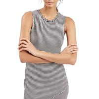 Petite Women's Topshop Stripe Body-Con Dress,