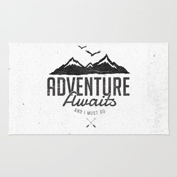 ADVENTURE AWAITS Rug by Magdam