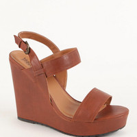Black Poppy Keeper Braided Wedge Sandals at PacSun.com