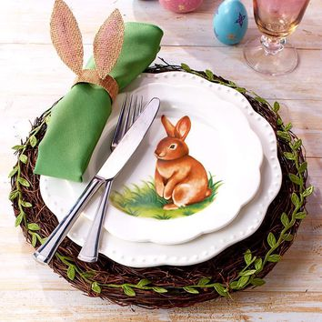Spring Table Setting Charger Plattes