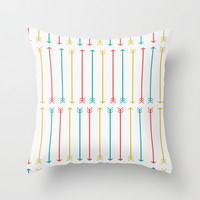 ARROW PATTERN Throw Pillow by Allyson Johnson