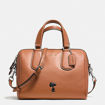 Coach X Peanuts Surrey Satchel in Leather