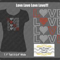 Love, love, love love!!! Women's T-Shirt