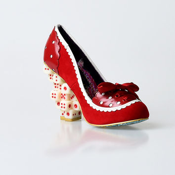 Irregular Choice Red Throw A Six Heels