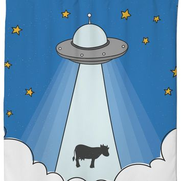 ROSC Cow Abduction Shower Curtain