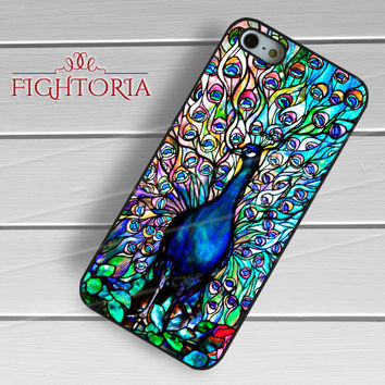 Peacock Tiffany Stained Glass Art - zzZzz for  iPhone 4/4S/5/5S/5C/6/6+s,Samsung S3/S4/S5/S6 Regular/S6 Edge,Samsung Note 3/4