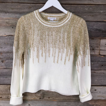 GLAM SWEATER - IVORY *GOLD*