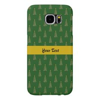 Seamless pattern with Christmas trees Samsung Galaxy S6 Cases