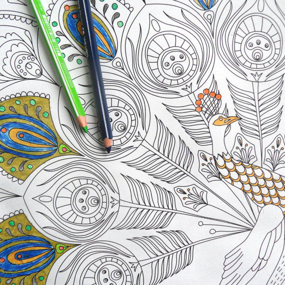 Giant Colouring Page Adult Coloring From