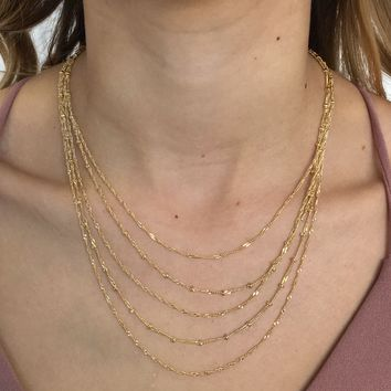 Don't Go Layered Necklace in Gold