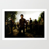 The Walking Dead Art Print by Gabriel T Toro