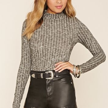 Marled Mock-Neck Top