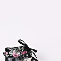 Cassie Floral Wedge Tennis Shoes