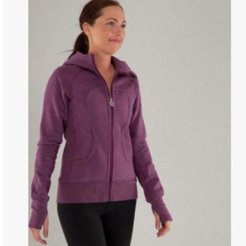 CREYON lululemon' Scuba Hoodie jog run yoga workout clothes style fashion Purple
