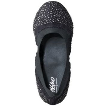 Women's Mossimo® Vanessa Scrunch Ballet Flat with Sparkle - Black