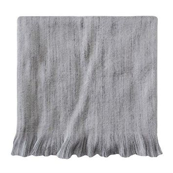 Ben and Jonah Confetti Throw Blanket with Fringe (Platinum)