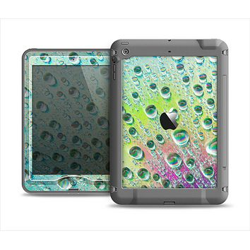 The RainBow WaterDrops Apple iPad Mini LifeProof Nuud Case Skin Set