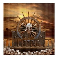Pirate Skull Rudder Shower Curtain on CafePress.com