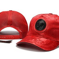 Red VERSACE Baseball Cap Hat Sports Workout Stylish