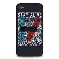 Twenty one pilots lyric iPhone 4/4s Case