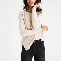 AEO Soft & Sexy Plush Drop-Shoulder Sweatshirt, Sand