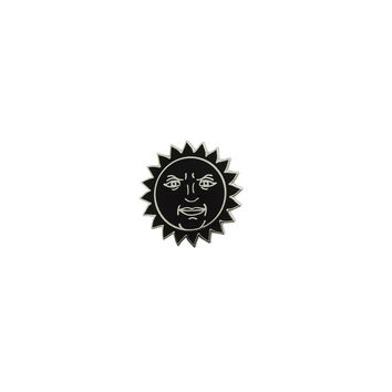 Black Sun Enamel Pin //  enamel pin badge // Black sun badge, mystic pin, sun & moon//EP042