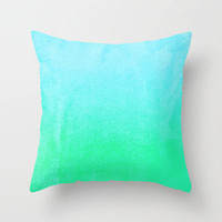 Blue Hawaiian Throw Pillow by Monika Strigel