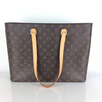 Authentic Louis Vuitton Shoulder Bag Luco M51155 Browns Monogram