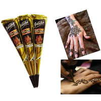 originalKashmirimports Henna natural jet black plant Henna tattoo paste into the dark Deluxe Edition of IndiaAuthentic (Color: Black) = 5660923009